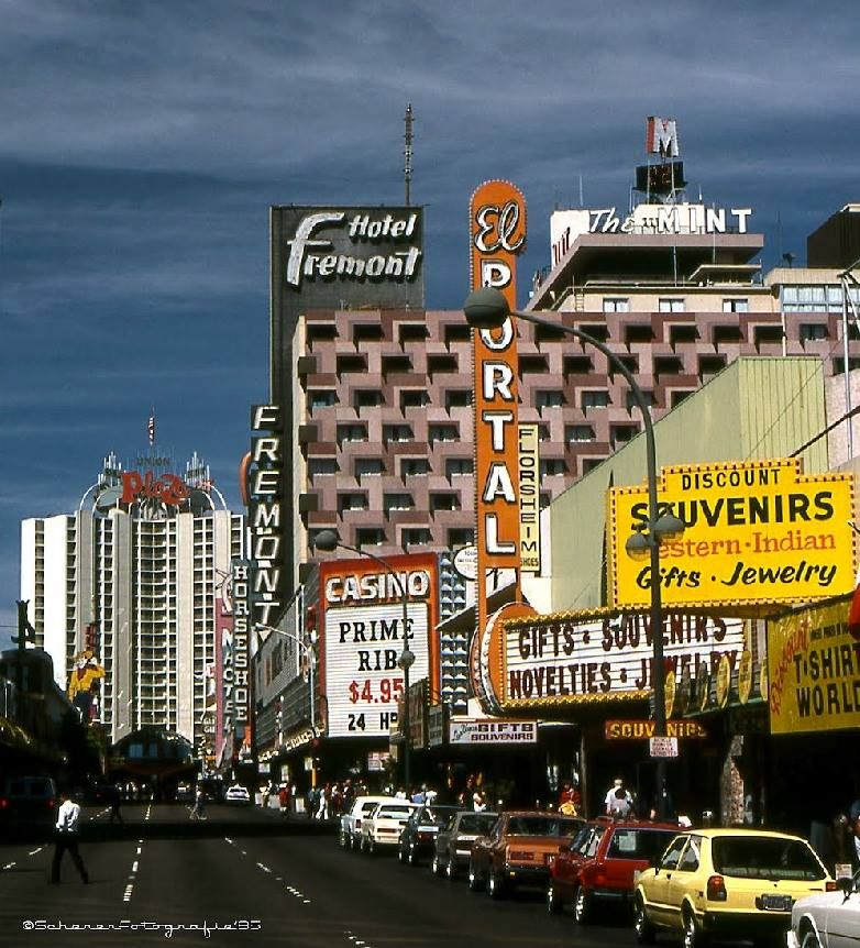 Ahh The Clic Vegas Of Old Downtown Las 1980s Before Fremont