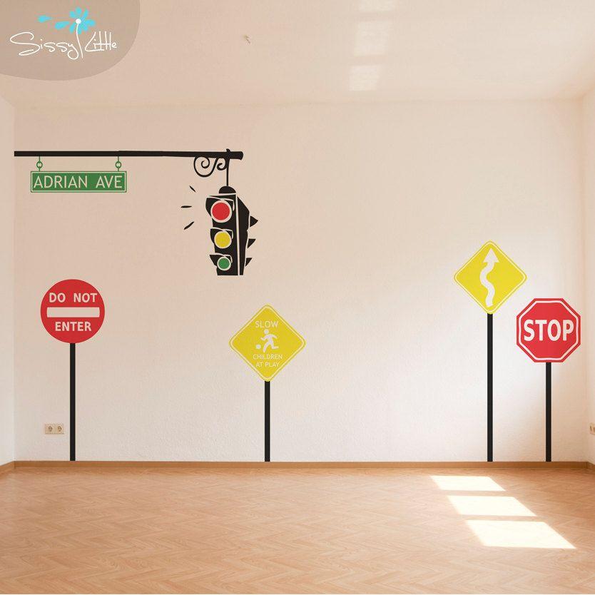 traffic monogram set custom wall vinyl decals by sissylittle 69 99 rh pinterest com