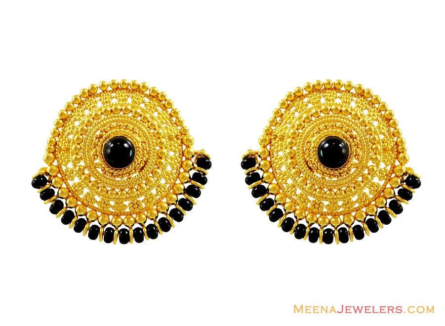 22ct gold bali with jhumka - Google Search | Things to Wear ...