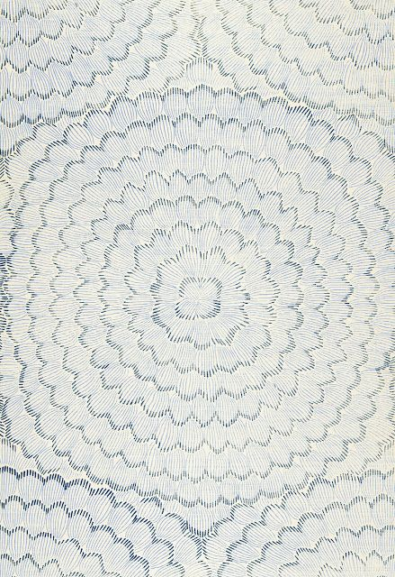 Celerie Kemble's Feather Bloom grass cloth from Schumacher