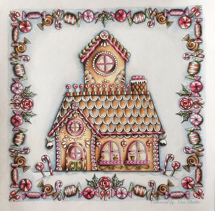 Johanna Basford/ Johanna\'s Christmas/ Ness Butler/ Polychromos ...