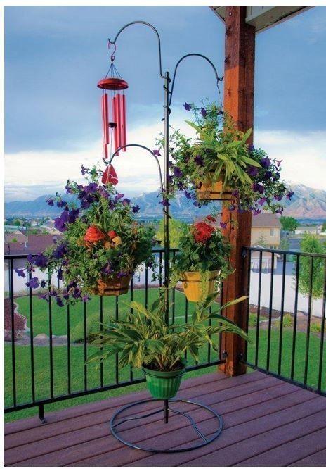 5 Yard Tree Hanging Garden System Plant Stand Garden Decor Herbs Deck Pot  Flower