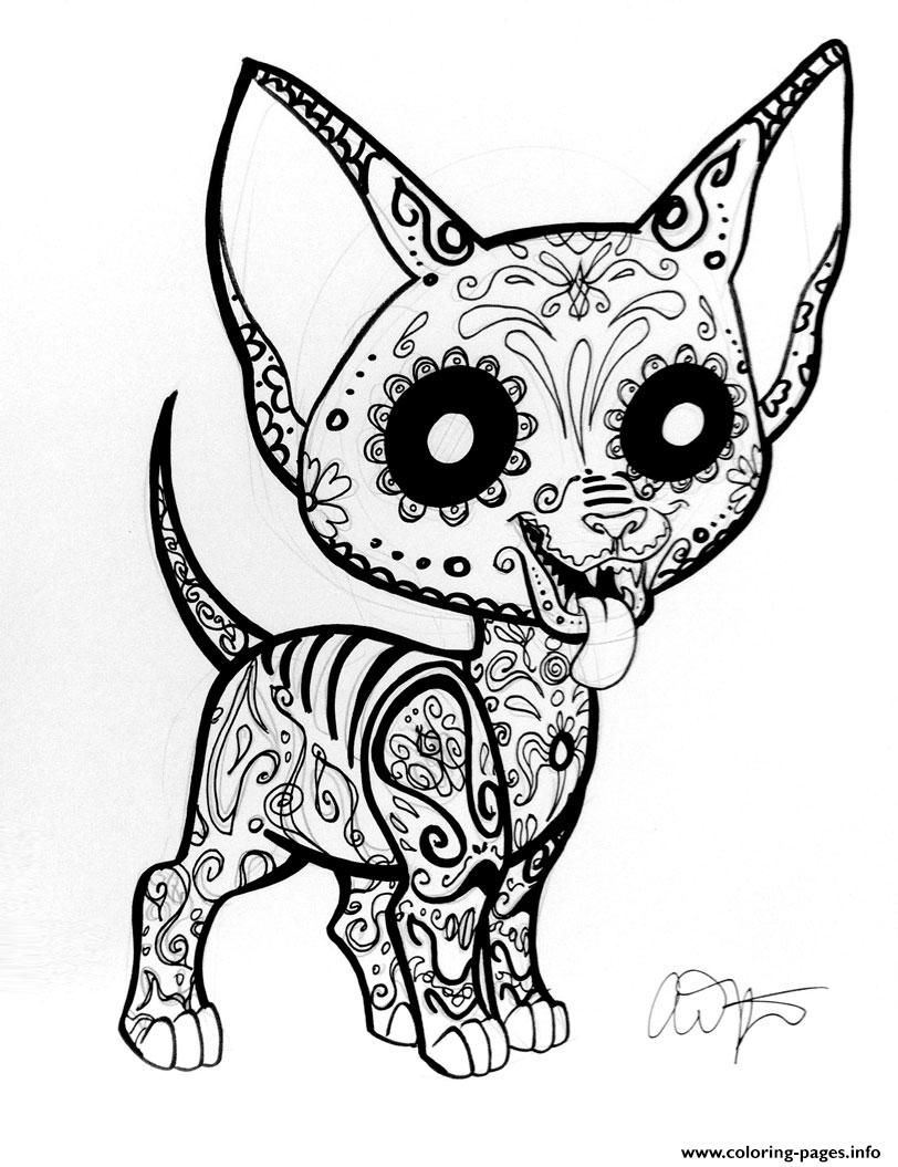 Print car sugar skull cute coloring pages | Coloring | Pinterest ...