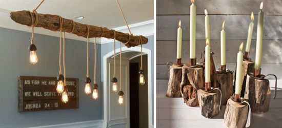 Driftwood Lighting Chandelier Diy