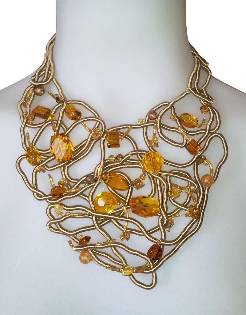 Cordon de seda con gemas cord n de seda cosido a mano - Alambre de acero ...