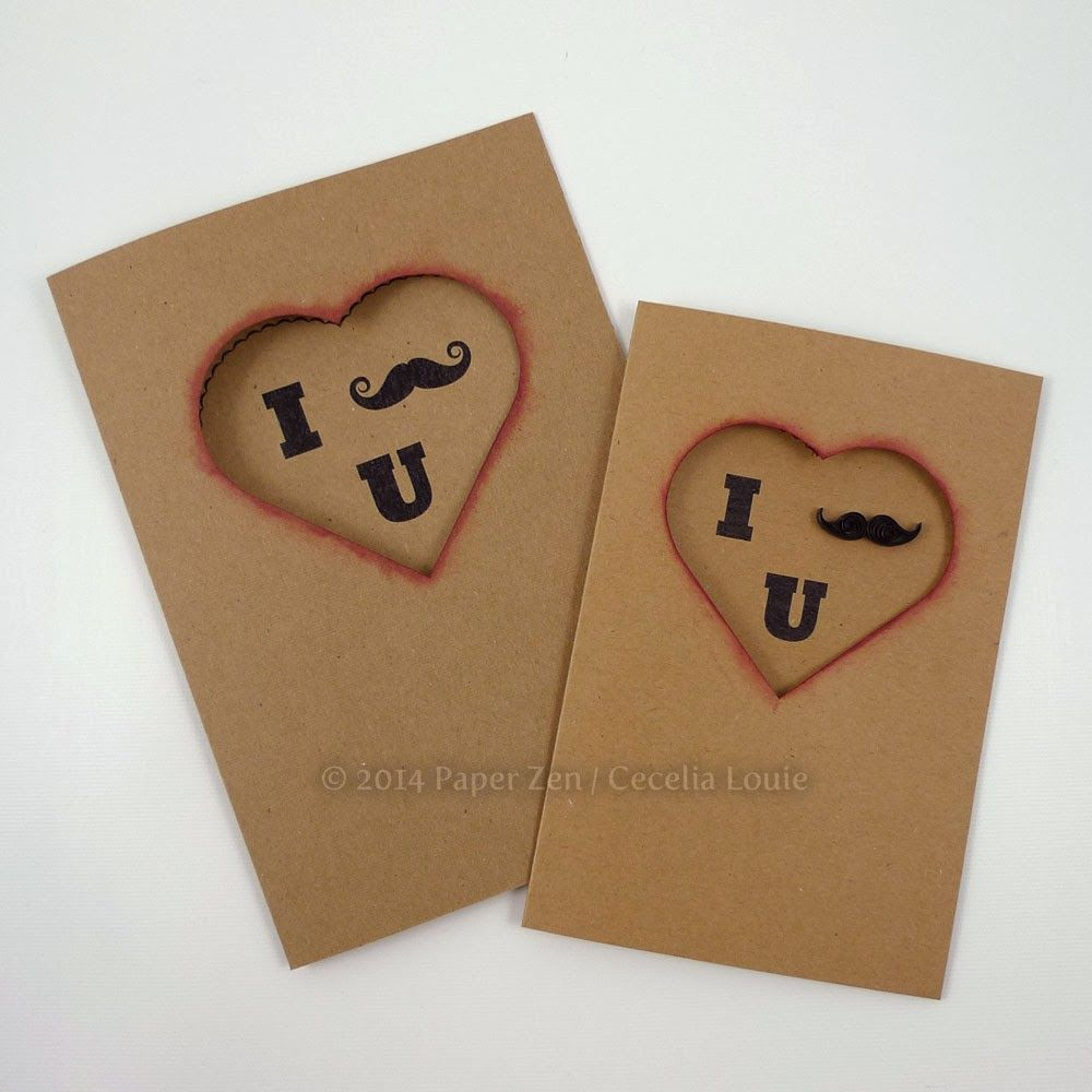 Free Mustache Valentine Card  Quilling Cuttings and Cards