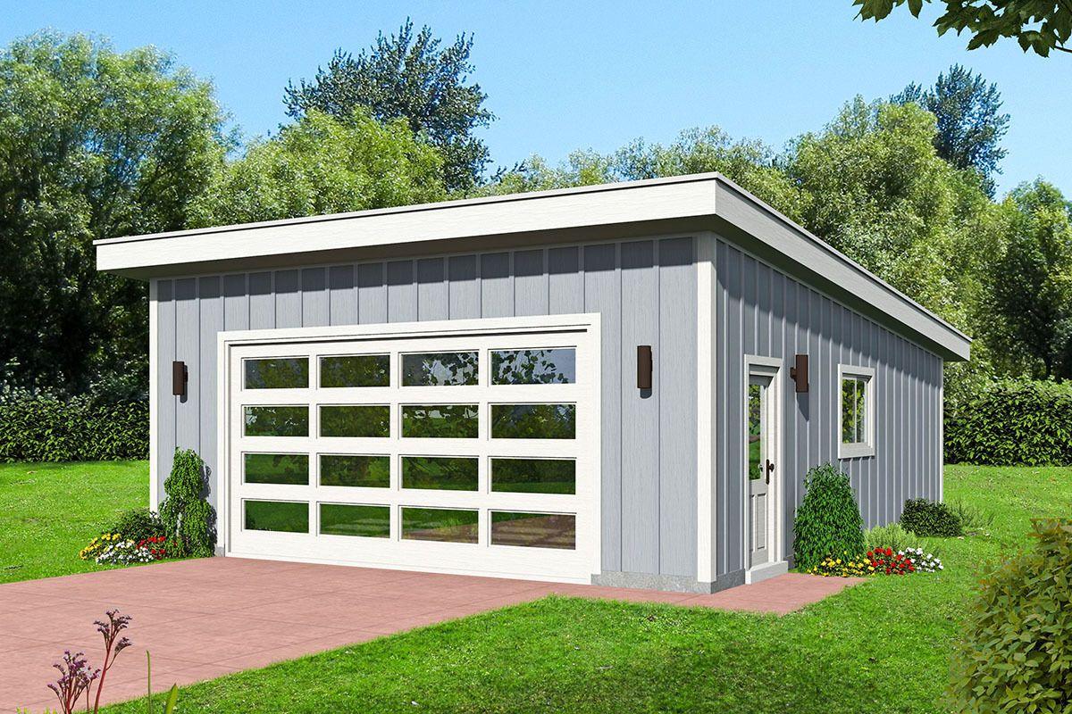 Plan 68576vr Modern Double Garage Garage Workshop Plans 2 Car Garage Plans Garage Plan