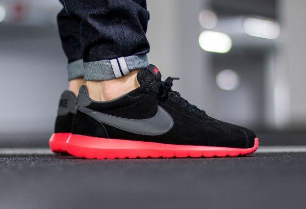 100% authentic 48d2d 35aa7 ... where to buy nike roshe ld 1000 suede black siren red qs 047a4 b923c