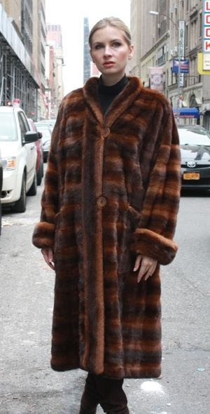 Fabulous Whiskey Mahogany Mink Coat Size 8-10 | Mink Coat mink ...