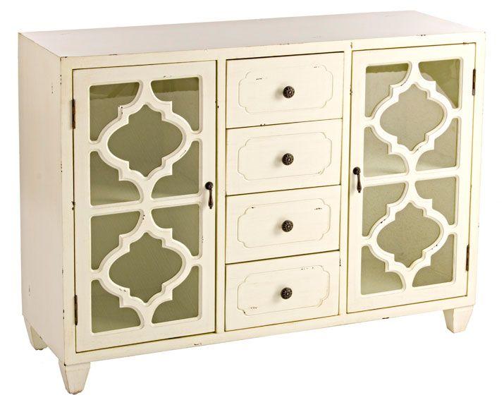 Ador 4 cajones blanco Vintage Jasmine Material: DM Densidad Media ...