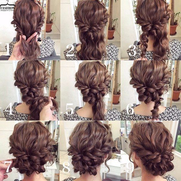 Easy Updo Tutorial For Curly Hair Hair Styles Long Hair Styles Hair Tutorial