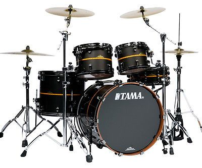 05f60529b205 Tama Starclassic Bubinga Elite (100% Bubinga) Black   Orange Inlay stripe!  SWEEEEET!+