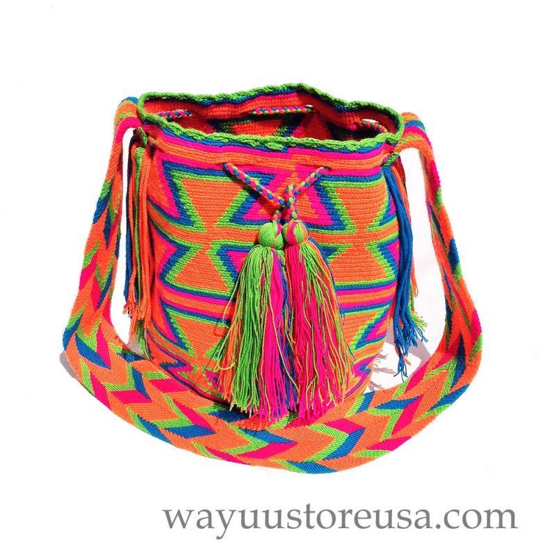 wayuustoreusa.com 25% off - Crochet Wayuu Bags ~ Crossbody 12 in.H x 9 in.W ~ 21 in. strap drop ~