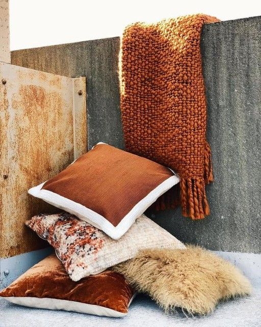 Accented Neutral Color Scheme Bedroom: Textured Border Pillow Covers In 2020