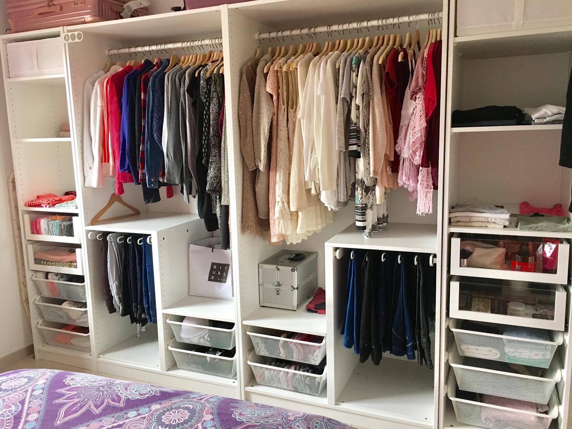 #Dressing, #chambre, #organisation, #rangement #penderie   Organisation maison, Penderie, Dressing
