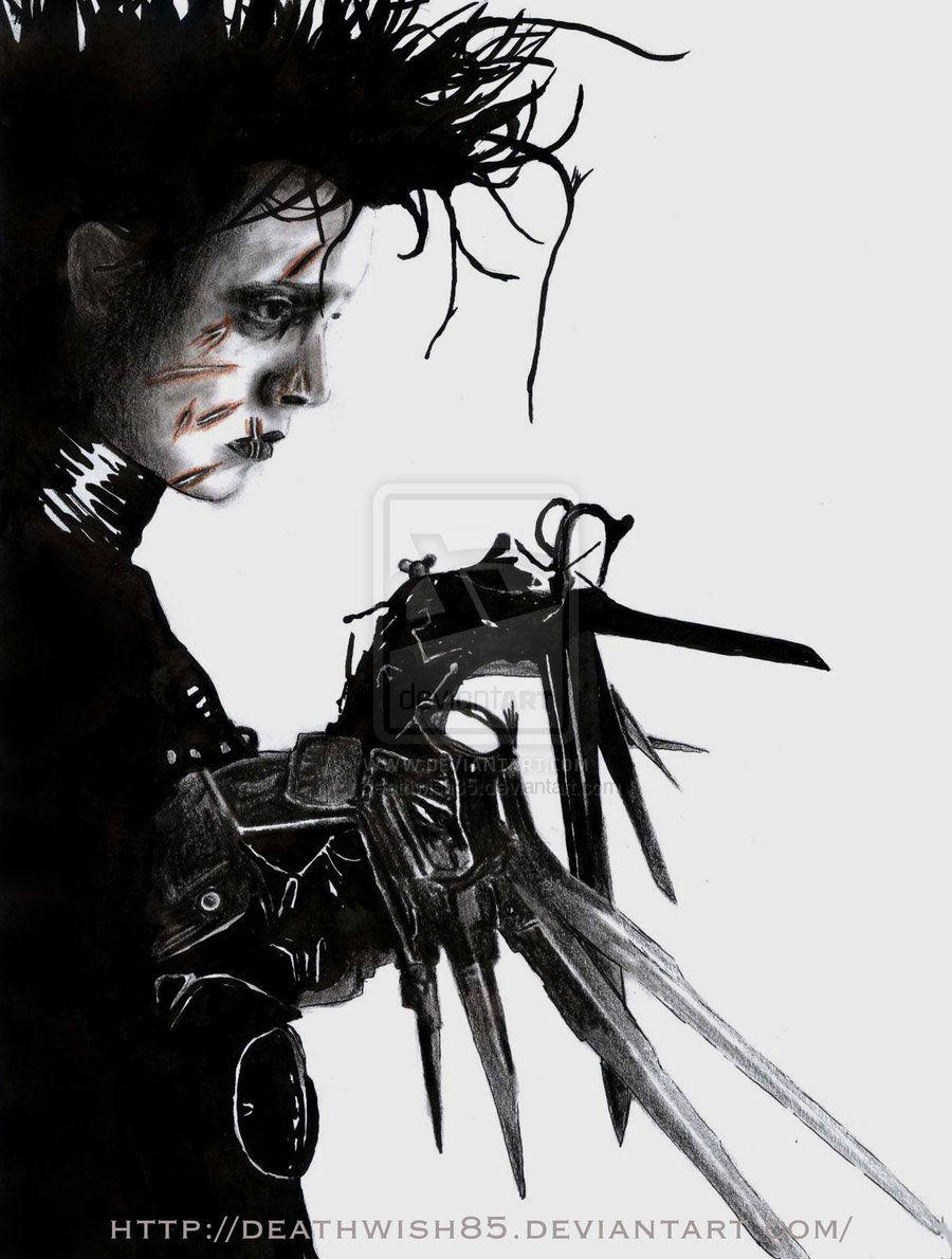 эдвард руки ножниц картинки заднем