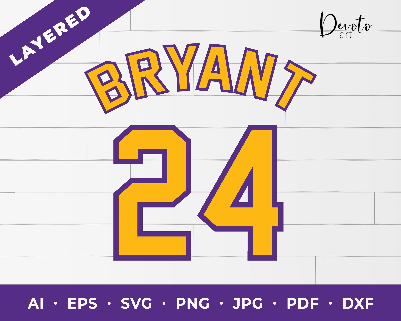 Kobe Bryant svg Kobe 24 Bryant 24 Kobe Bryant Los Etsy