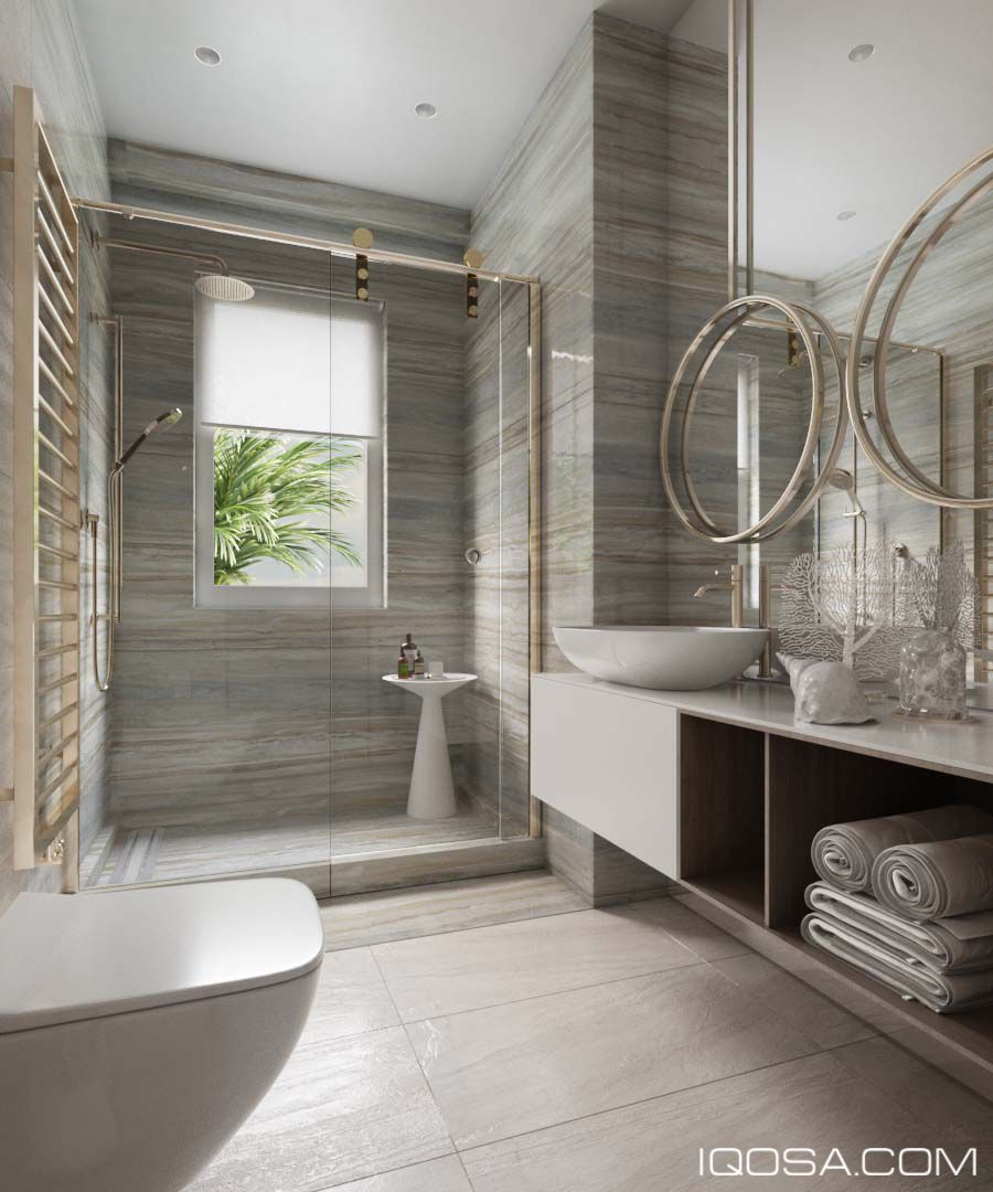 Combine classic and modern bathroom design ~ Home Interior ...