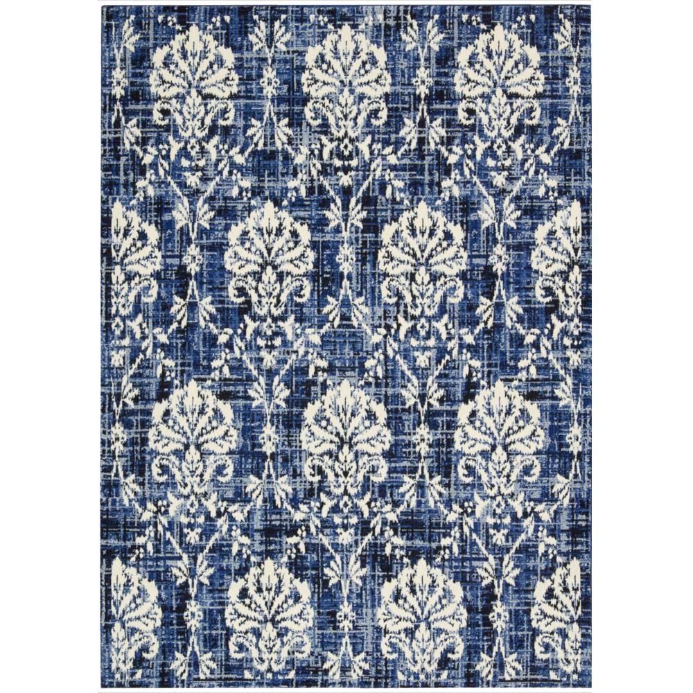 Barclay Butera Kaleidoscope Chambray Area Rug by Nourison (9'6 x 13') (Chambray Rug), Blue (Wool, Abstract)