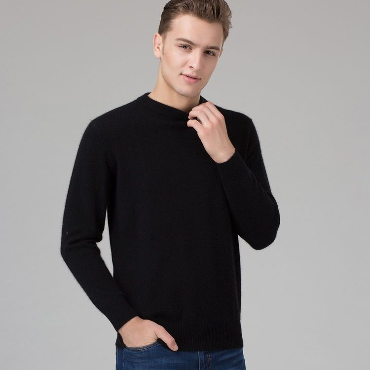 717a0707ad Winter Men Jumper 100% Pure Cashmere Knitted Sweater O-neck Long Sleeve Warm  Pullovers Male Sweaters Big size clothes