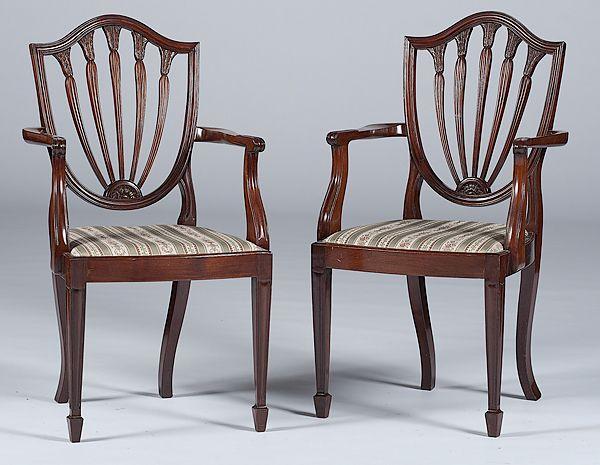 Perfect English Hepplewhite Style Chairs