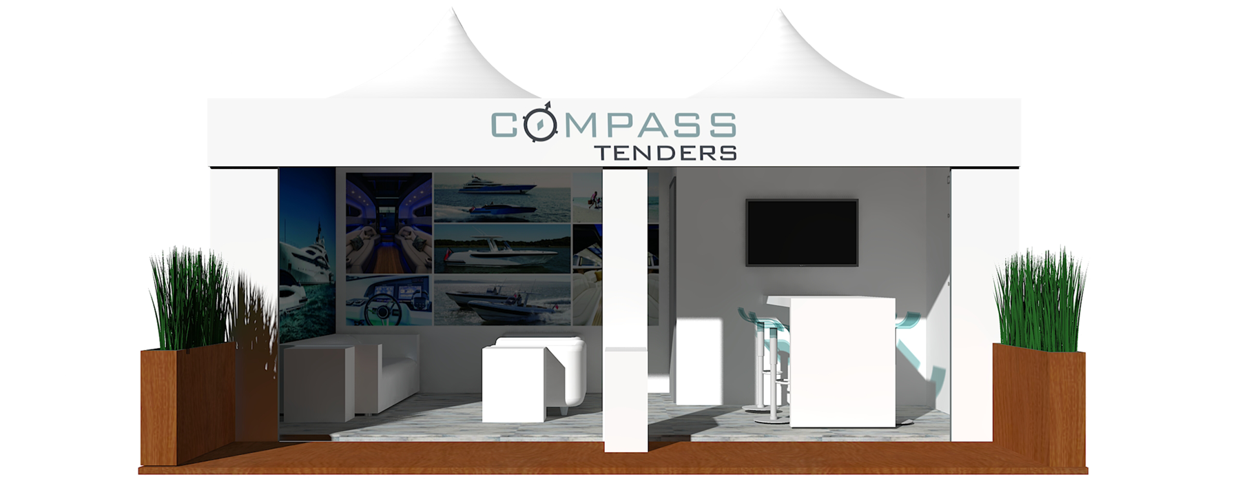 Exhibition Stand Tenders : Stand for compass tenders on the monaco yacht show 2017 superyacht