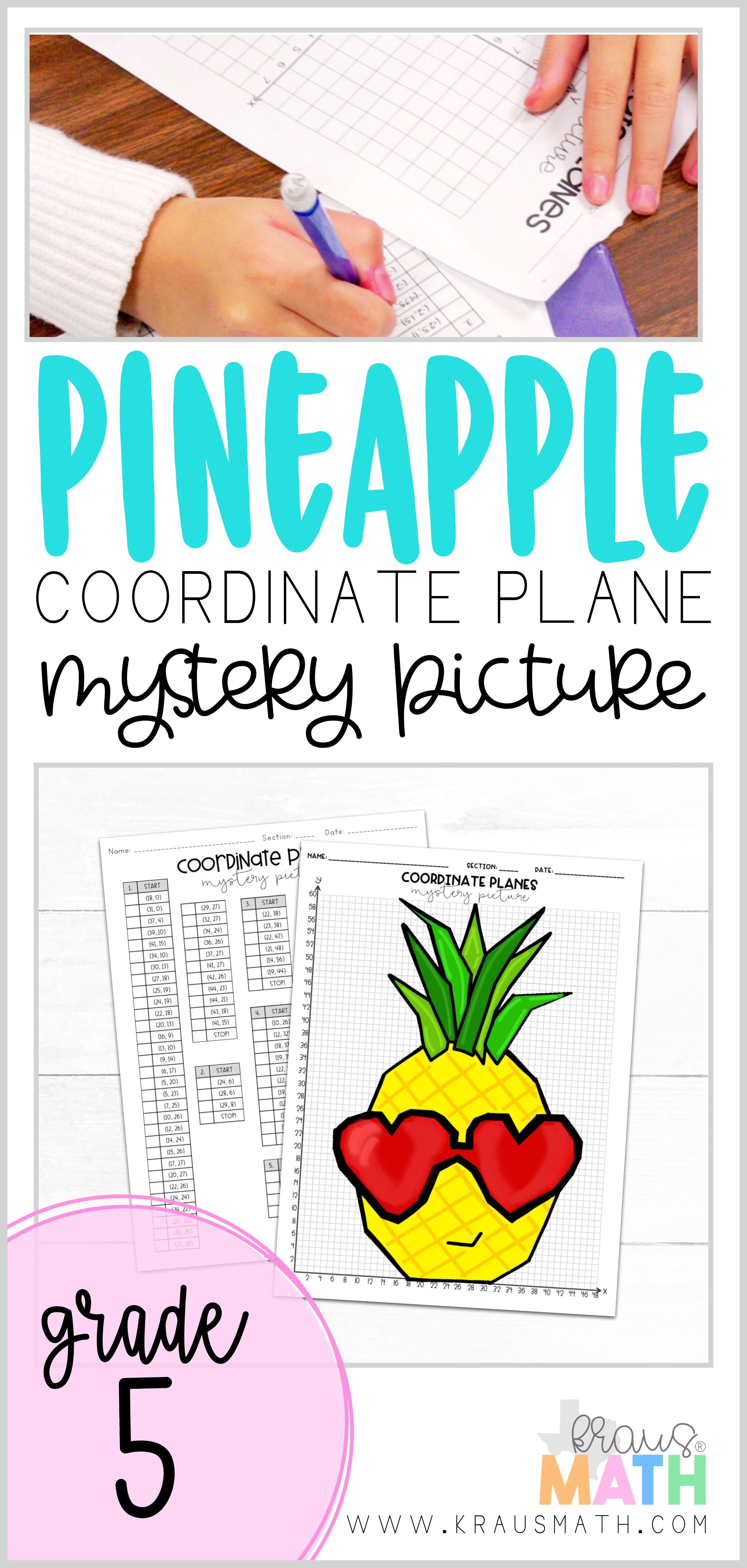 Valentine S Day Pineapple Coordinate Plane Mystery Picture