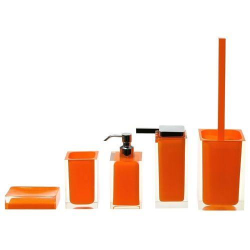 Bathroom Accessories Orange