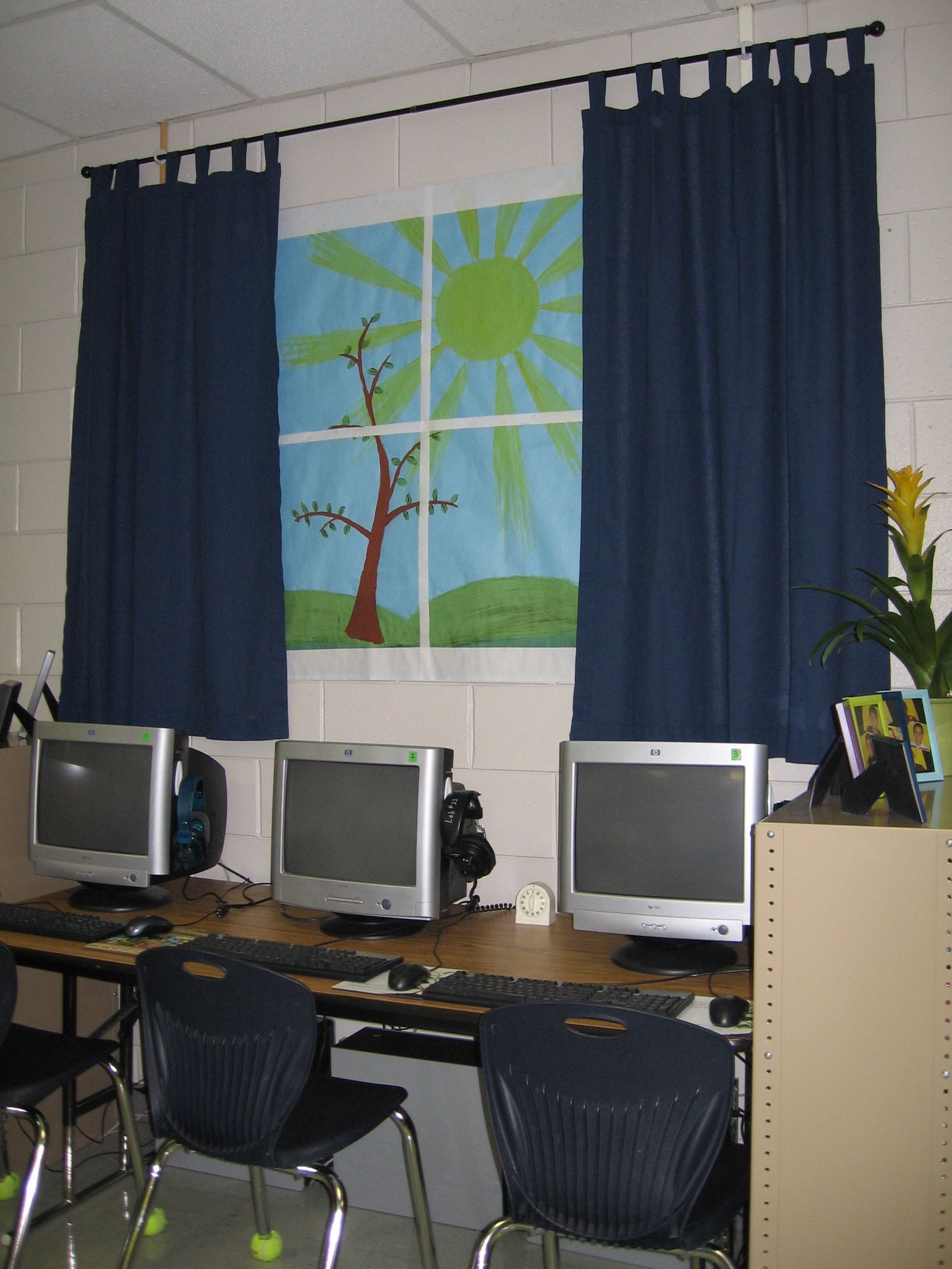 Classroom Curtain Design : Don t have a window in your classroom make own this