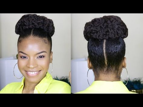 (183) Twisted Crown 2 Ponytail Marley Updo | NATURAL HAIR - YouTube | Natural hair ponytail ...