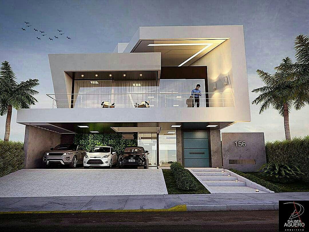 Sensacional cuadrada y minimalista fachadas casas y for Casa minimalista grande