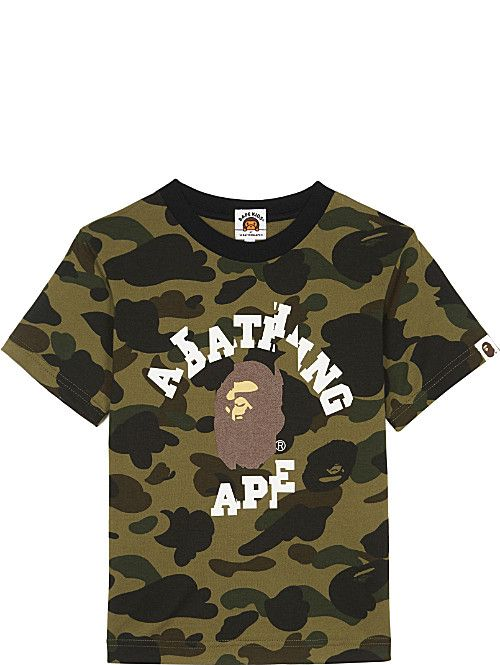 2019 A Bathing Bape Kids Baby Shirt Leaves Logo Camo Short Sleeve T-shirt 4 sty