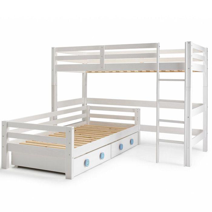 Wrigglebox Papallona Single L Shaped Bunk Bed With Storage Wayfair