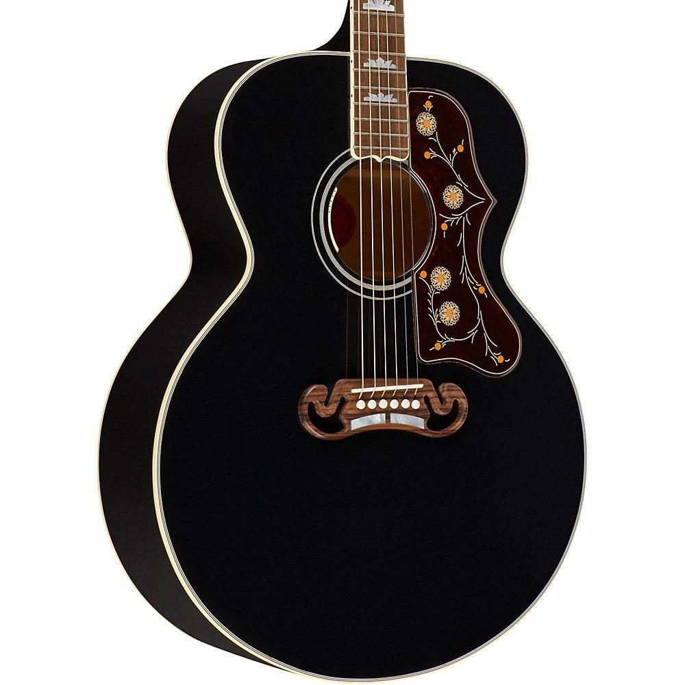 Gibson sj200 acousticelectric guitar ebony guitar