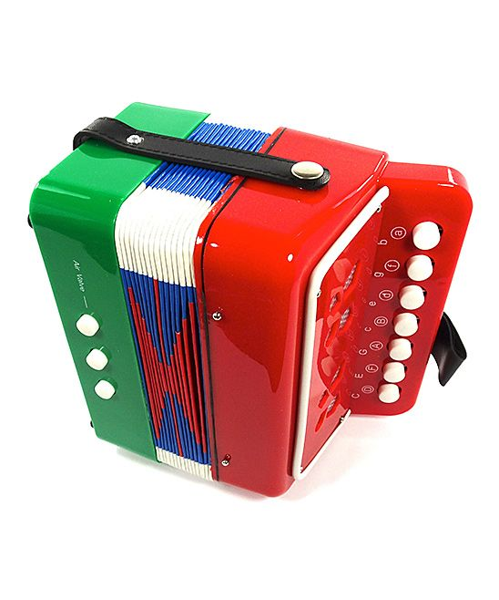 Green & Red Accordion Musical Toy