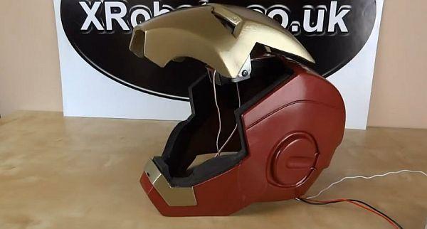 Diy Iron Man Helmet With Motorized Faceplate Design