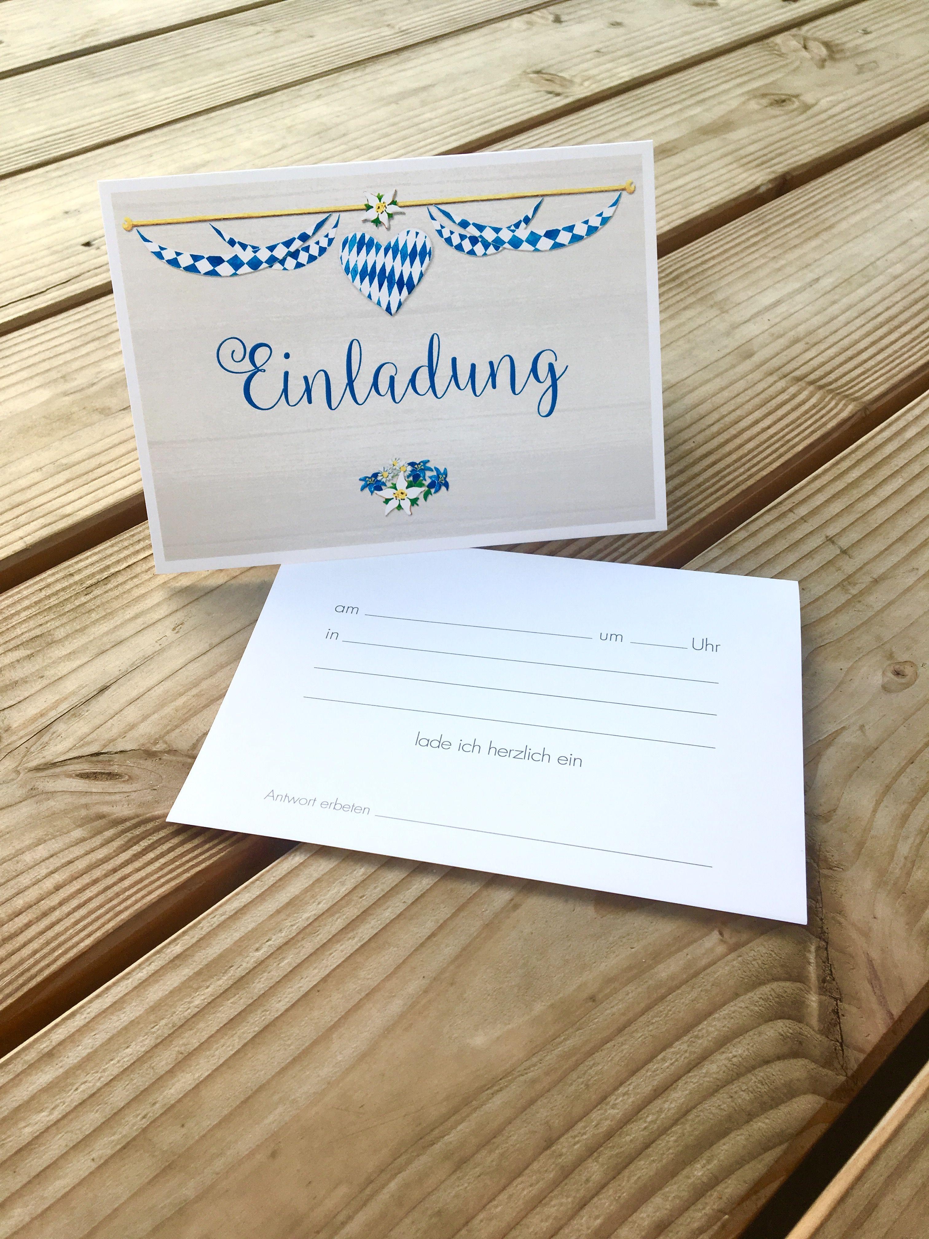einladungskarten für das oktoberfest oder eine bayerische