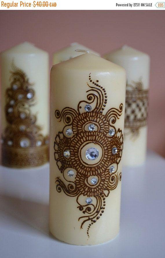 Holiday Sale Henna Candle Mehndi Candle Henna Design Henna Decor