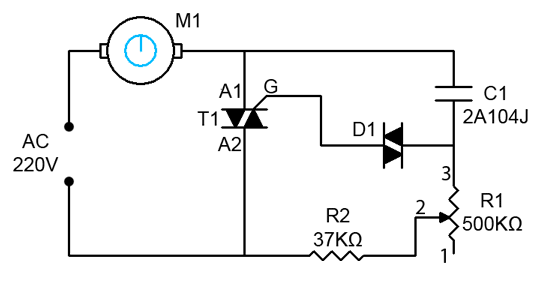 1000W AC Motor Speed Controller Circuit Diagram in 2019