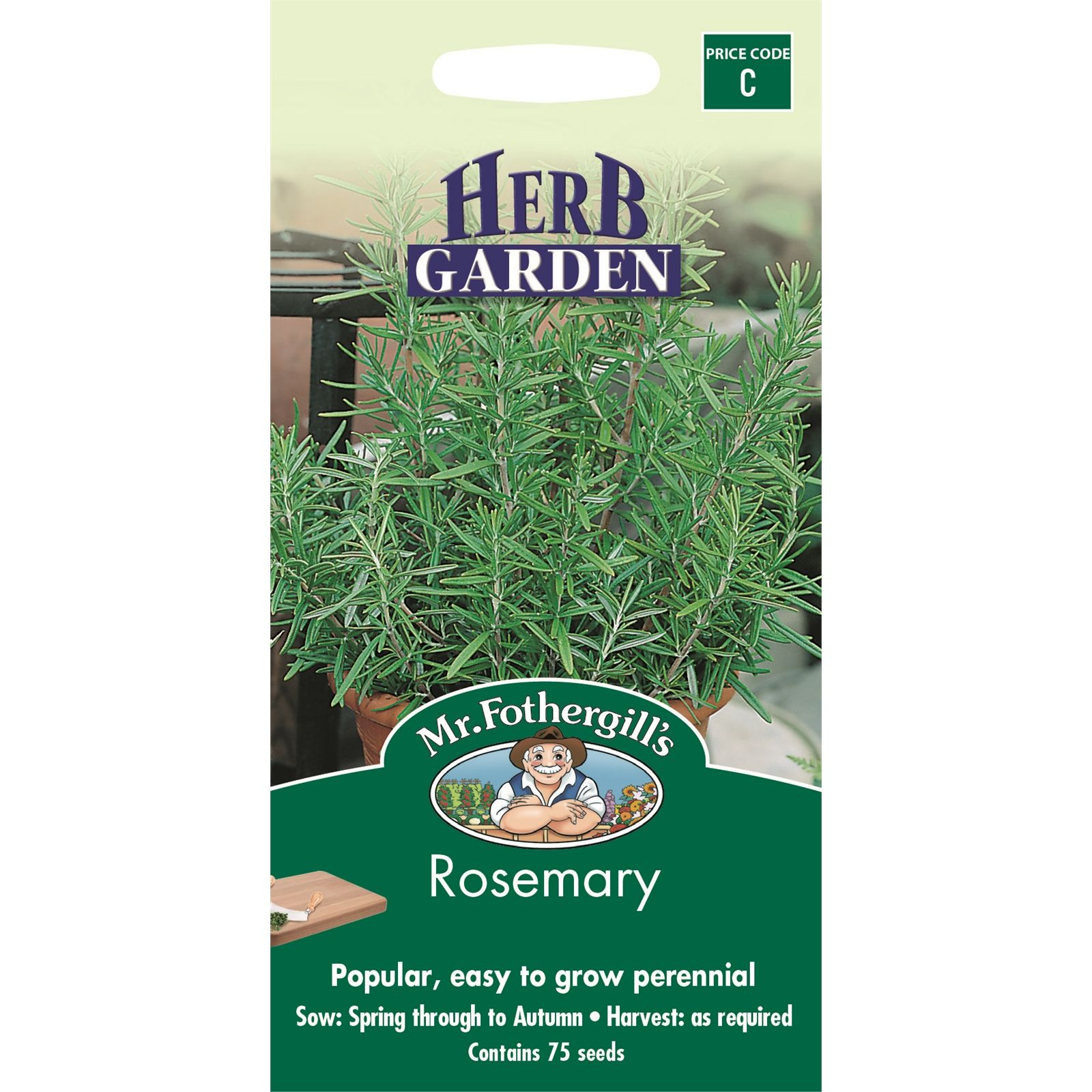 Mr Fothergill's Rosemary Herb Garden Seeds Herbs, Garden
