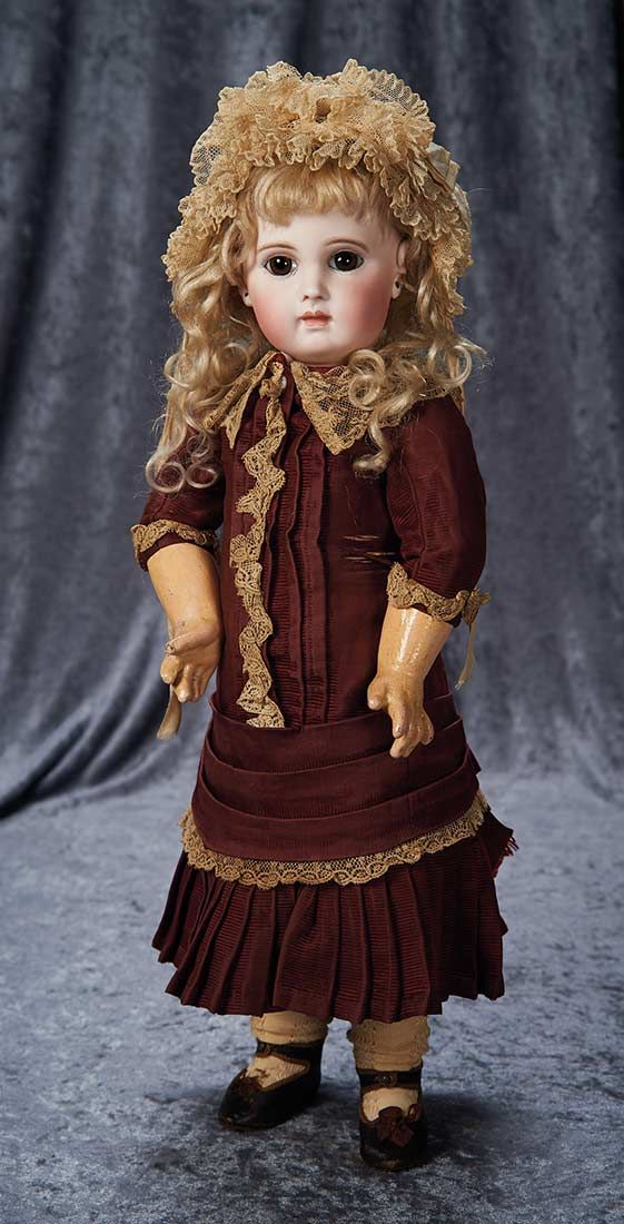 """""""Among Friends, The Billie and Paige Welker Collection"""": 199 Gorgeous French Bisque Bebe EJ, Size 8, by Emile Jumeau"""