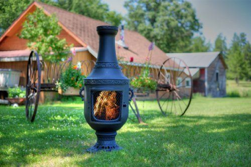 The Blue Rooster Cast Iron Venetian Chiminea By The Blue
