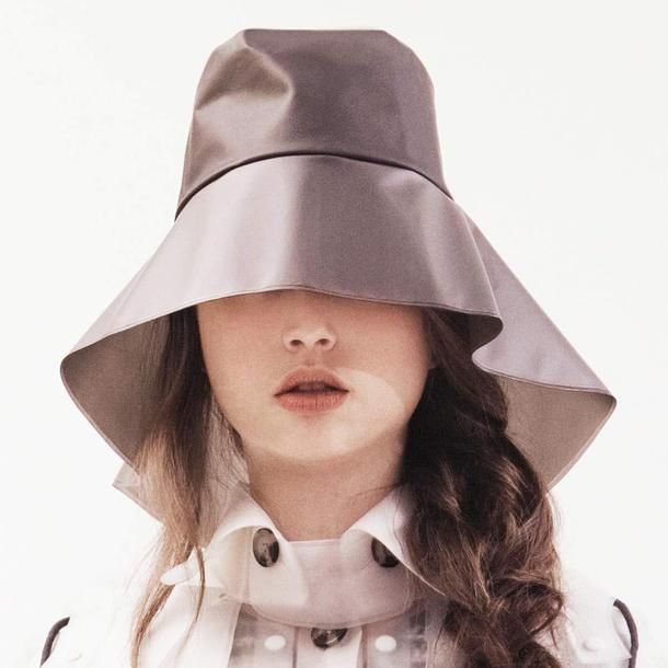 Smoky Grey Rain Hat. I would just wear this everywhere. It would make me so happy
