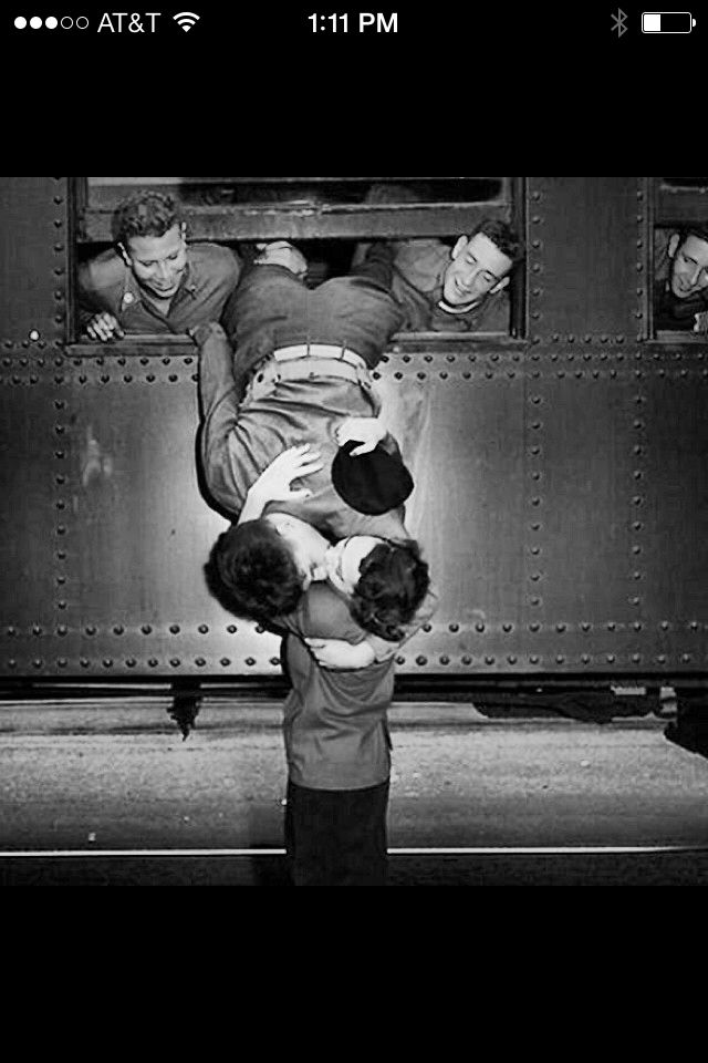 Man kissing goodbye his love