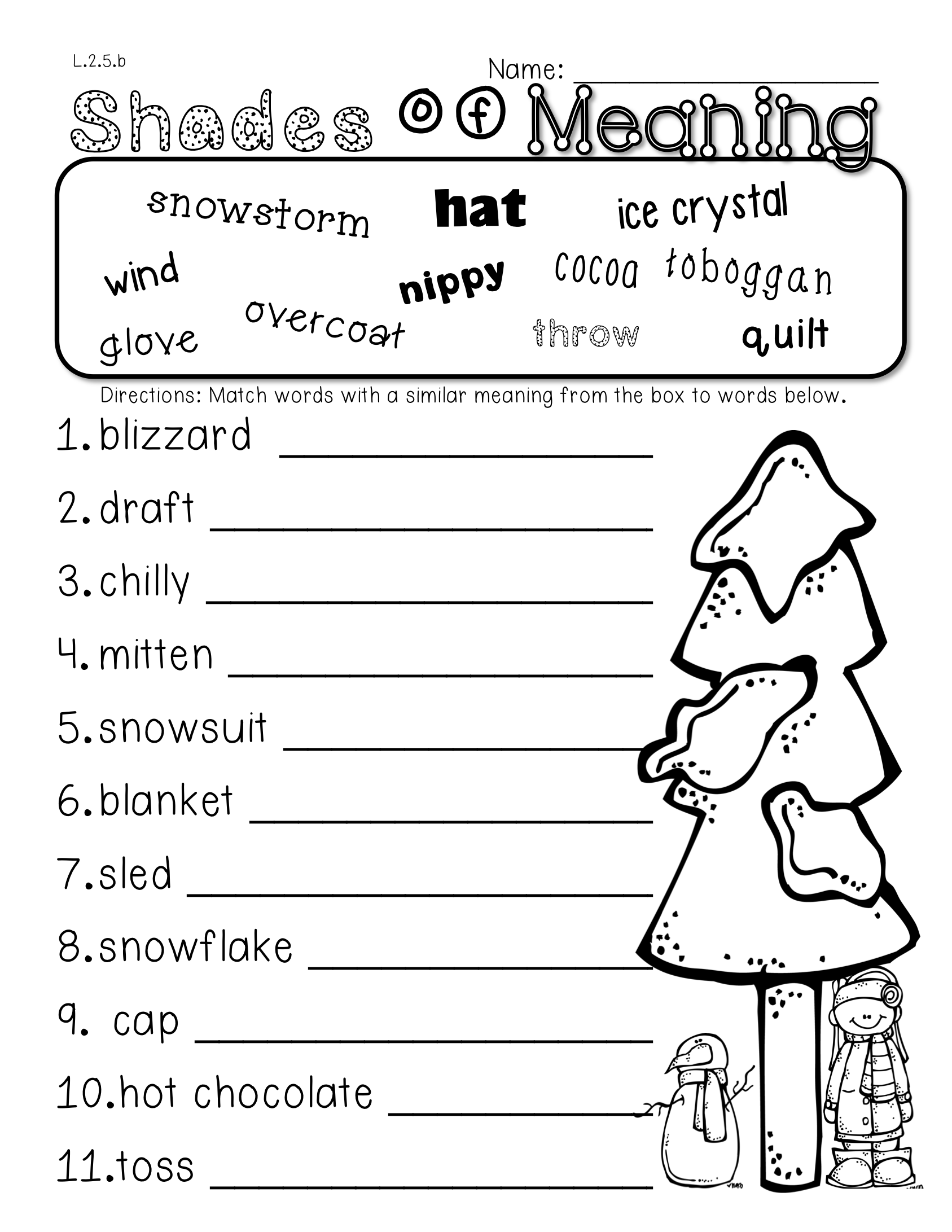 2nd grade common core winter themed math ela pack 100 aligned homographs plural nouns and. Black Bedroom Furniture Sets. Home Design Ideas