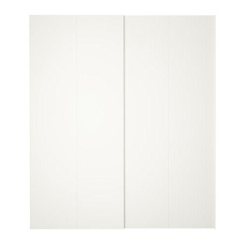 IKEA - HASVIK, Puertas correderas, 2 uds, 200x236 cm, , Las puertas correderas te dejan más sitio para poner muebles, ya que no ocupan espacio cuando están abiertas.