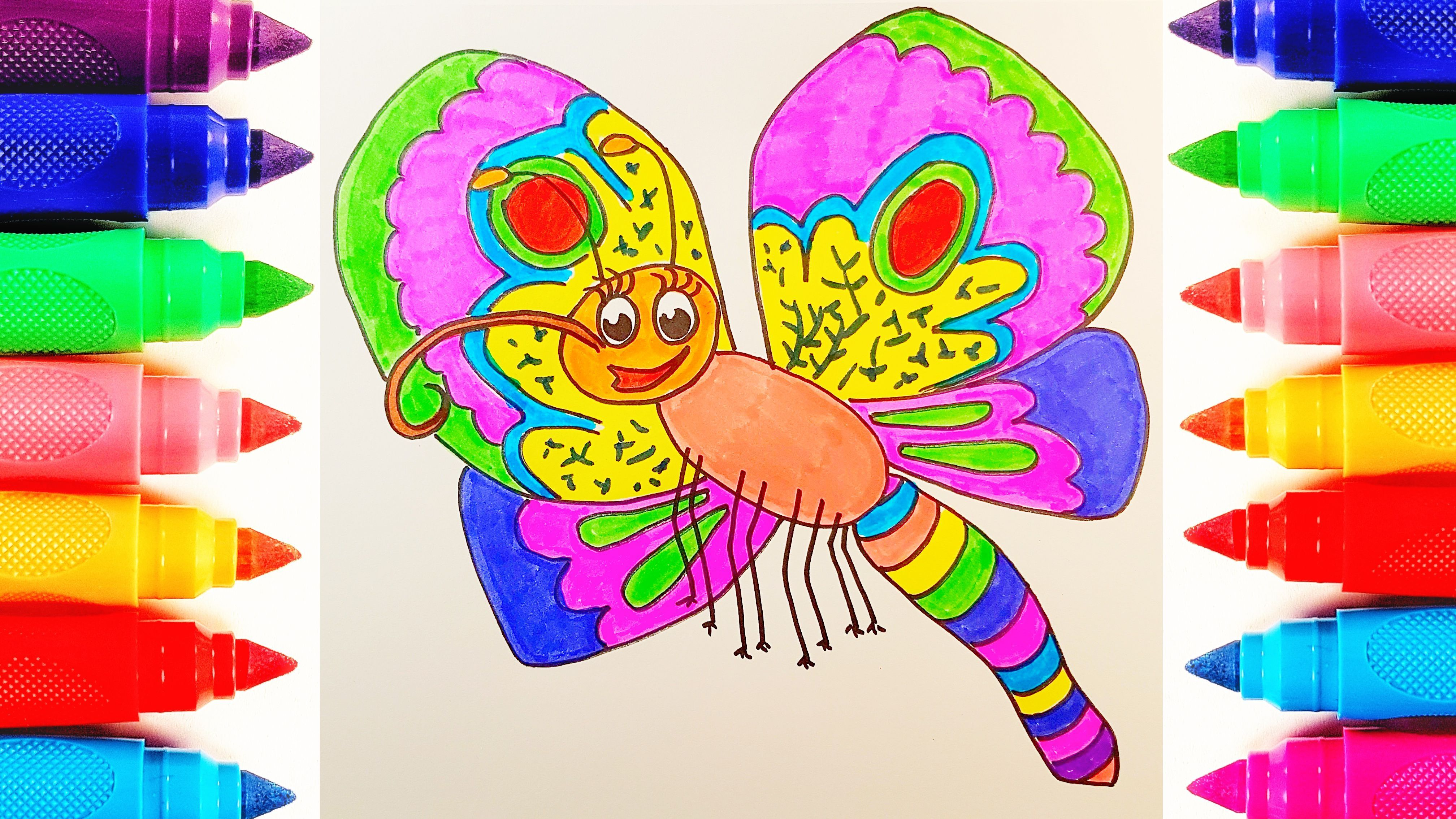 Aww This Is Cute Butterfly How To Draw Cute Amazing Funny Butterfly For Kids Drawing And Color Butterfly Drawing Butterfly Coloring Page Coloring For Kids