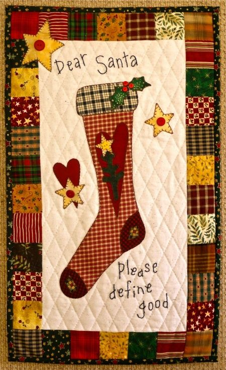 Dear Santa Wall Hanging Tutorial - Quilting Digest | Quilting ... : define quilted - Adamdwight.com