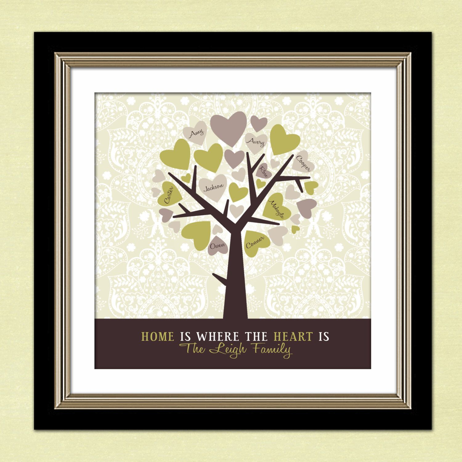 Personalized Family Tree  Family Tree  Custom Art Print