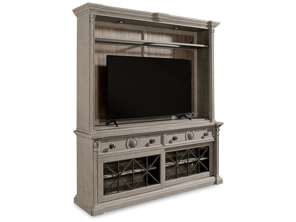 Arch salvage townley entertainment center by art furniture inc in